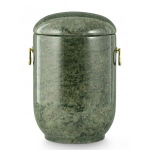 Unique Granite Natural Stone Cremation Ashes Urn – Shades of Tropical Green