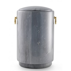 Marble Imperial Bardiglio Natural Stone Cremation Ashes Urn / Casket – Luxurious Grey – Incredibly Striking