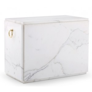 Marble Natural Asian Stone Cremation Ashes Urn / Casket – Carrera Double Sarcophagus (For 2 Persons)