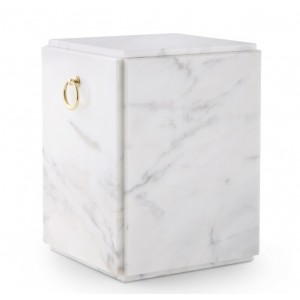 Marble Natural Asian Stone Cremation Ashes Urn / Casket – Carrera Light Sarcophagus Upright