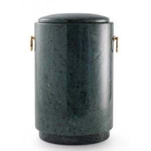 Marble Serpentinite Stone Cremation Ashes Urn / Casket – Shades of Green / Black - Stunningly Beautiful
