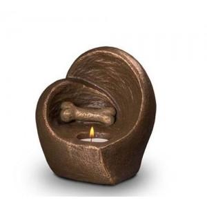 Exclusive Ceramic Cremation Ashes Candle Holder Urn Liquid Bronze – Bone (Capacity 0.5 litres)