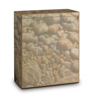 MDF Wood Wooden Scatter Scattering Cremation Ashes Urn – Pebbles
