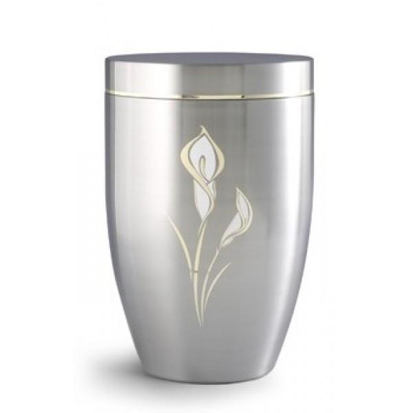 Stellar Range Calla Lily Design Steel Cremation Ashes