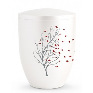 Biodegradable Cremation Ashes Urn – Tree of Life Edition – Autumn Leaves