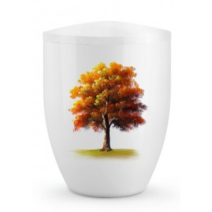 Biodegradable Cremation Ashes Urn – Tree of Life Edition – Autumnal Maple