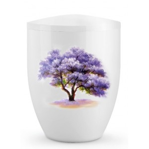 Biodegradable Cremation Ashes Urn – Tree of Life Edition – Paulownia in Full Bloom