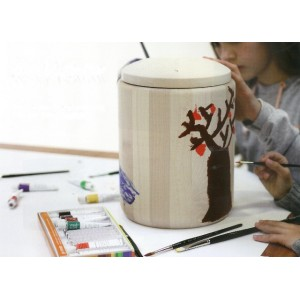 Personal Memory Cremation Ashes Urn - Inc FREE Acrylic Paints & Brushes