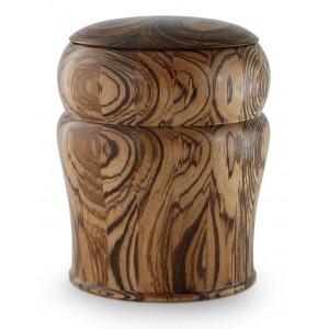 Zebra Wood Artisan Cremation Ashes Urn