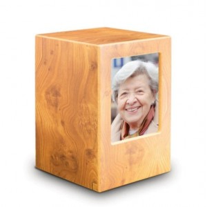 MDF Wood Wooden Cremation Ashes Urn / Funeral Ash Casket – To Hold Photo of a Loved One **FREE Engraving**