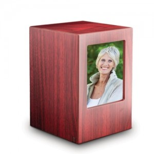 MDF Wood Wooden Cremation Ashes Urn / Funeral Ash Casket – To Hold Picture of a Loved One **FREE Engraving**