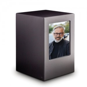MDF Wood Wooden Cremation Ashes Urn / Funeral Ash Casket – To Hold Photograph of a Loved One **FREE Engraving**