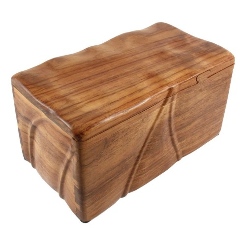 Classic Fine Wooden Cremation Ashes Caskets - The Dartmouth (Solid Teak)