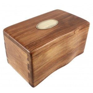 Classic Fine Wooden Cremation Ashes Caskets - The Thameside (Solid Teak) - FREE ENGRAVING