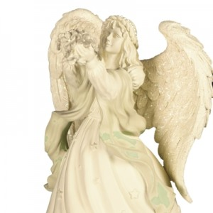 Angel Holding Flowers Figurine Musical (Always in my Heart)