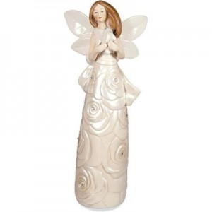 Adoring Rose Angel Figurine