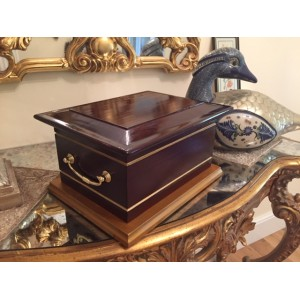 Albury Gold Wooden Cremation Ashes Casket - FREE Engraving when you buy this product **SOLD OUT**
