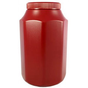 Polytainer Cremation Ashes Urn / Casket – Burgundy Red – Effective Storage of Cremated Remains