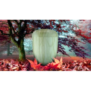 Biodegradable Cremation Ashes Funeral Urn / Casket - NATURAL LIGHT MARBLE EFFECT