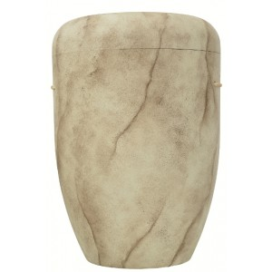 Biodegradable Cremation Ashes Funeral Urn / Casket - NATURAL BROWN MARBLE EFFECT