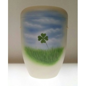 Biodegradable Cremation Ashes Funeral Urn / Casket - CLOVER LEAF
