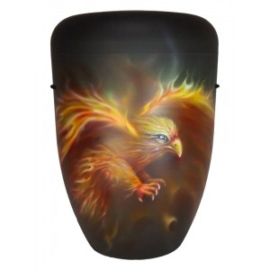 Biodegradable Cremation Ashes Funeral Urn / Casket - FIREBIRD