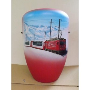 Biodegradable Cremation Ashes Funeral Urn / Casket - THE GLACIER EXPRESS TRAIN