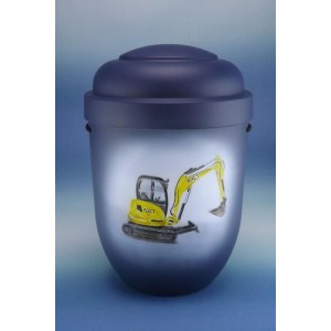 Biodegradable Cremation Ashes Funeral Urn / Casket - JCB DIGGER