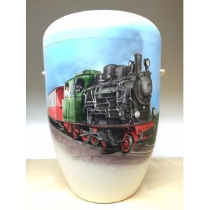 Biodegradable Cremation Ashes Funeral Urn / Casket - TRAVEL BY STEAM TRAIN