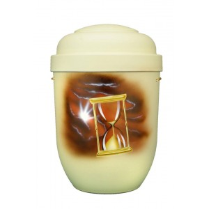 Biodegradable Cremation Ashes Funeral Urn / Casket - TIME ENDS