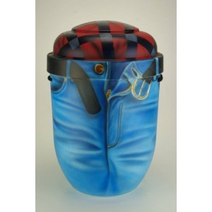 Biodegradable Cremation Ashes Funeral Urn / Casket - Forever in Blue Jeans