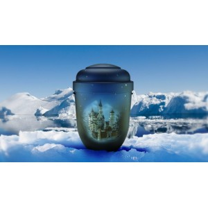 Biodegradable Cremation Ashes Funeral Urn / Casket - WINTER WONDERLAND