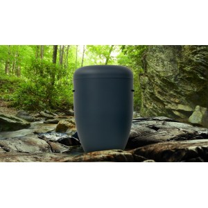Biodegradable Cremation Ashes Funeral Urn / Casket - ANTHRACITE