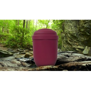 Biodegradable Cremation Ashes Funeral Urn / Casket - BORDEAUX RED