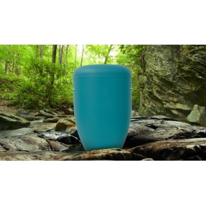 Biodegradable Cremation Ashes Funeral Urn / Casket - MICA LIGHT BLUE