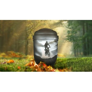 Biodegradable Cremation Ashes Funeral Urn / Casket - MOTOCROSS