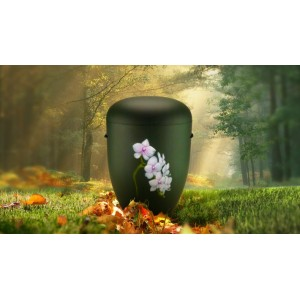 Biodegradable Cremation Ashes Funeral Urn / Casket - THE FLOWERING ORCHIDS (B)