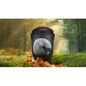 Biodegradable Cremation Ashes Funeral Urn / Casket - HOWLING WOLF MOON