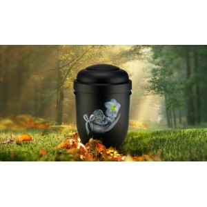 Biodegradable Cremation Ashes Funeral Urn / Casket - FLORAL FEATHER