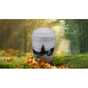Biodegradable Cremation Ashes Funeral Urn / Casket - MOUNTAIN SPRUCE