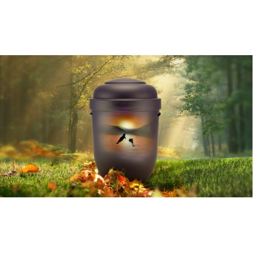 Biodegradable Cremation Ashes Funeral Urn / Casket - DOLPHINS