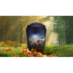 Biodegradable Cremation Ashes Funeral Urn / Casket - POPPY
