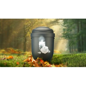Biodegradable Cremation Ashes Funeral Urn / Casket - CANDLE ROSE