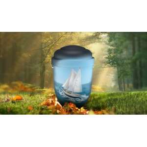 Biodegradable Cremation Ashes Funeral Urn / Casket - SAIL AWAY
