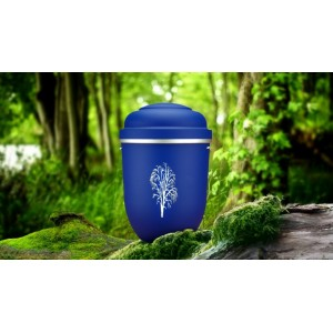 Biodegradable Cremation Ashes Funeral Urn / Casket - CELESTIAL BLUE with WILLOW TREE