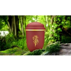 Biodegradable Cremation Ashes Funeral Urn / Casket - RED BEACON with WILLOW TREE