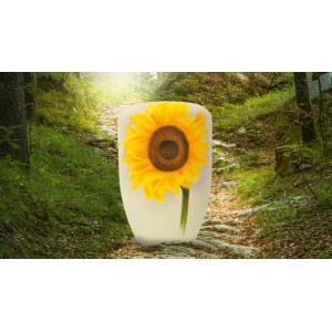 Biodegradable Cremation Ashes Funeral Urn / Casket - SUNFLOWER