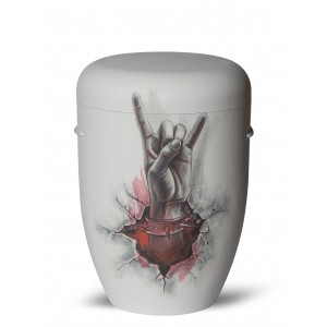 Biodegradable Cremation Ashes Funeral Urn / Casket – HEAVY METAL (Rock n Roll)
