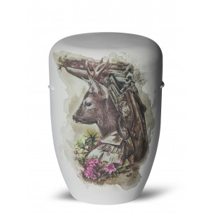 Biodegradable Cremation Ashes Funeral Urn / Casket – ROEBUCK (Male Roe Deer)