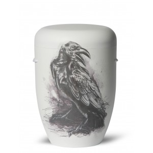 Biodegradable Cremation Ashes Funeral Urn / Casket – THE CROW (Zen Master Raven)